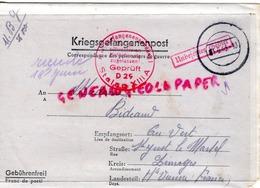 87 - SAINT JUST LE MARTEL- LETTRE KRIEGSGEFANGENENPOST -GUERRE 1939-1945-MME BIDEAULT AU VERT-LIMOGES- ANDRE BLANZAT - - Documenti Storici