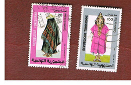 TUNISIA - SG 1137.1139  -    1987  COSTUMES  - USED ° - Tunisia (1956-...)
