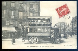 Cpa Du 75 Paris Montmartre Sur La Place Pigalle Autobus -- Compagnie Générale Des Omnibus   LZ26 - Transporte Público