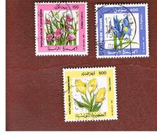 TUNISIA - SG 1141.1143   -    1987  FLOWERS   - USED ° - Tunisia (1956-...)