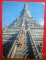 TEMPLE Of The Dawn Buddhist Monks CARTOLINA Viaggiata Storia Postale - Bouddhisme