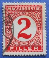 HUNGARY MAGYAR 2 Filler 1930 PORTO STAMP M112 - USED - Segnatasse
