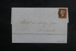ROYAUME UNI - Affranchissement N°3 Sur Lettre Pour Liverpool En 1842, Oblitération De St. Helens Au Verso - L 41933 - 1840-1901 (Victoria)