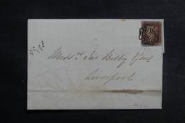 ROYAUME UNI - Affranchissement N°3 Sur Lettre Pour Liverpool En 1841, Oblitération De St. Helens Au Verso - L 41934 - 1840-1901 (Victoria)