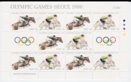 Ireland 1988 Seoul Olympic Games Souvenir Sheet MNH/** (LAR-H53) - Sommer 1988: Seoul