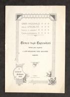 Casale - Gara Specialità Dolci E Liquori - Elenco Espositori - Febbraio 1902 - Libros, Revistas, Cómics