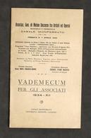 Associazione Gen. Mutuo Soccorso Artisti Ed Operai Casale - Vademecum - 1934 - Libros, Revistas, Cómics