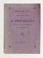 Regolamento Per Pia Società Divoti S. Luigi Gonzaga - Casale Monferrato - 1874 - Libros, Revistas, Cómics