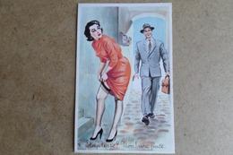 HUMOUR - Striptease ? Non Une Puce - Signé L.Carriere - Pin-up, Jolie Fille, Photochrom 398  ( Illustrateur, Humour ) - Humour