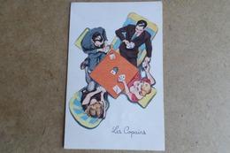 HUMOUR - Les Copains - Partie De Cartes, Pin-up, Jolie Fille, Photochrom 398  ( Illustrateur, Humour ) - Humour