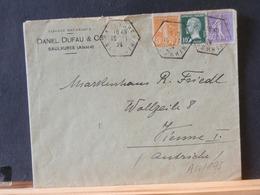 A10/195 LETTRE FRANCE 1924  OBL. SAULXURES  AFFRICHEMENT TRIOCOLORE - France