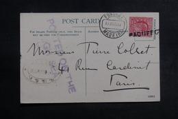 """ROYAUME UNI - Griffe """" Paquebot """" Sur Carte Postale ( Bateau ) Pour Paris En 1903, Oblitération De Funchal - L 41939 - Postmark Collection"""