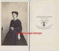 CDV Mode Second Empire-femme-photo Poupat à Bourges - Photos