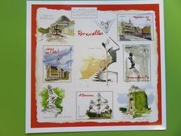 PAP - Carte Postale Pré-timbrée - Timbre International Mannequin Pis - Bruxelles Capitale Européenne - Série Capitales - Documents De La Poste