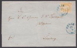"""Mi-Nr. 16, EF """"Celle"""", 1859 Mit Inhalt - Hanovre"""