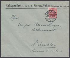 """Mi-Nr. 145 I, Bess. Variante Mit Perfin """"Kalisyndikat Berlin"""", Saubere EF Auf Bedarfsbrief - Briefe U. Dokumente"""