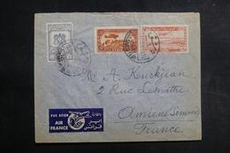 SYRIE - Enveloppe De Damas Pour La France En 1949, Affranchissement Recto Et Verso Plaisant - L 41947 - Syrie