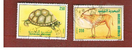 TUNISIA - SG 1175.1176  -    1989  ENDANGERED ANIMALS (COMPLET SET OF 2)   - USED ° - Tunisia (1956-...)