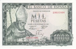 BILLETE DE 1000 PTAS DEL AÑO 1965 SAN ISIDORO SERIE Z SIN CIRCULAR (UNCIRCULATED) (BANKNOTE) - [ 3] 1936-1975: Franco