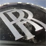 ~ CENTRE DE ROUE CACHE MOYEU ROLLS ROYCE - Automobile Mascotte Voiture - Voitures
