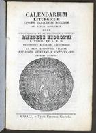 Religione Casale - Calendarium Liturgicum Sanctae Casalensis Ecclesiae - 1829 - Libros, Revistas, Cómics