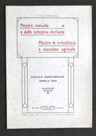 Agraria - Mostre Vinicola, Orticoltura E Macchine Agricole - Casale Aprile 1923 - Libros, Revistas, Cómics