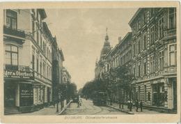 Duisburg 1919; Düsseldorferstrasse (Strassenbahn) - Gelaufen. (Cramers Kunstanstalt - Dortmund) - Duisburg