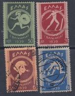 Grèce N° 446 / 49 O  Premiers Jeux Balkaniques, La Série Des 4 Valeurs  Oblitérations Moyennes ( Le 446 X) Sinon TB - Oblitérés