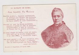 Pio X°, Con Poesia Di Giggi Benvenuti - F.p.- Anni '1903 - Papi