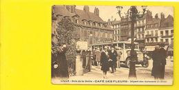 LILLE Rare Départ Des Autobus Café Des Fleurs Bois De La Deûle (Cailteux Gerbier ) Nord (59) - Lille