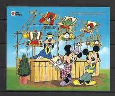 Disney Grenada 1991 Tori-no-hichi Or Rake Fair Is Held On The Day Of The Rooster MS MNH - Disney