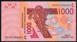 W.A.S. BURKINA FASO  P315Cs 1000 FRANCS (20)19 2019 UNC. - Stati Dell'Africa Occidentale