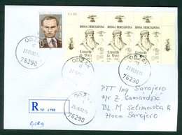 Bosnia And Herzegovina 1999 2002 Croatia Mostar Simic Writer Leonardo Da Vinci Flaying Odzak Letter - Bosnia Herzegovina