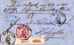 NDP 1869, 1+2 Gr. Auf Paket Brief V. Zittau Nach Österreich - North German Conf.