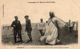 CAMPAGNE DU MAROC - 14  2  - AZEMMOUR- Le Consul De France Et Le Pacha Si Allal Prennent Congé Du Général. - Autres