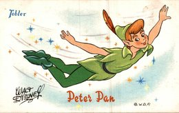CARTE POSTALE PUBLICITAIRE CHOCOLATS TOBLER WALT-DISNEY  PETER PAN - Disney