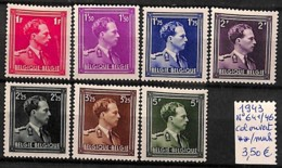 [823370]TB//**/Mnh-Belgique 1943 - N° 641/46,  Rois, Familles Royales - Belgique
