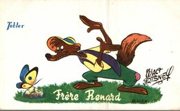 CARTE POSTALE PUBLICITAIRE CHOCOLATS TOBLER WALT-DISNEY  FRERE RENARD - Disney