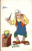 CARTE POSTALE PUBLICITAIRE CHOCOLATS TOBLER WALT-DISNEY  GEPETTO - Disney