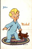 CARTE POSTALE PUBLICITAIRE CHOCOLATS TOBLER WALT-DISNEY  MICHEL - Disney