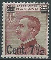 1923-27 REGNO EFFIGIE SOPRASTAMPATO 7 1/2 SU 85 CENT I TIPO MNH ** - UR40 - Nuevos