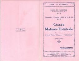 RICHELIEU 37 - Programme 1936, Grande Matinée Théatrale - Programs
