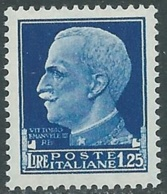 1929-42 REGNO IMPERIALE 1,25 LIRE MNH ** - UR40-4 - 1900-44 Victor Emmanuel III.