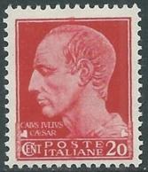 1929-42 REGNO IMPERIALE 20 CENT MNH ** - UR40-4 - 1900-44 Victor Emmanuel III.