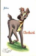 CARTE POSTALE PUBLICITAIRE CHOCOLATS TOBLER WALT-DISNEY  CLOCHARD - Disney