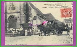 CPA (72 Sarthe) - LA FRESNAYE SUR CHEDOUET Un Passage De Commerçants Épicerie POULIN Boucherie PROVOST Alençon Argentan - La Fresnaye Sur Chédouet