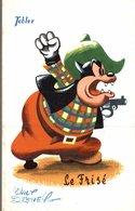 CARTE POSTALE PUBLICITAIRE CHOCOLATS TOBLER WALT-DISNEY  LE FRISE - Disney