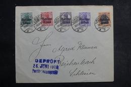 ROUMANIE - Enveloppe De Bucarest Pour Reichenbach En 1918, Affranchissement D'occupation Allemande Plaisant - L 41970 - Cartas De La Primera Guerra Mundial
