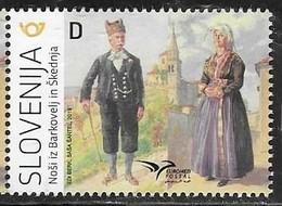 SLOVENIA , 2019, MNH, EUROMED, COSTUMES OF THE MEDITERRANEAN, 1v - Kostüme