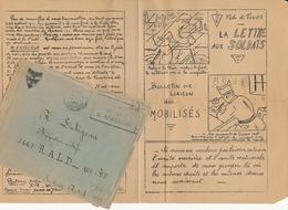 """TOURS, 37 - Bulletin De La J.O.C., Fédération De Tours """"La Lettre Aux Soldats"""" , 1940 - WW2 - Documents Historiques"""